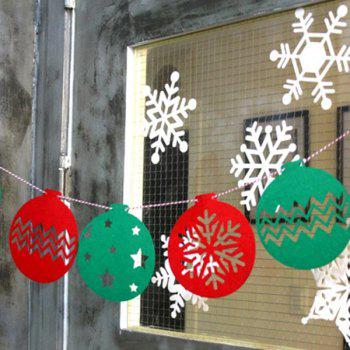 Home Decor Snowflake Balloon Bunting Garland Christmas Party Supplies - RED/GREEN