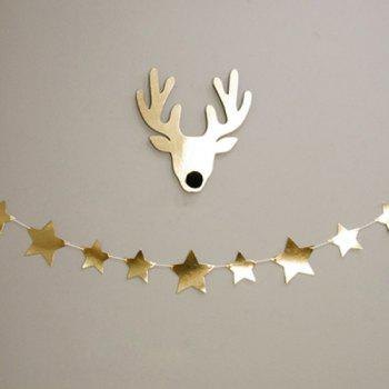 Home Decor Gold Star Bunting Garland Christmas Party Supplies