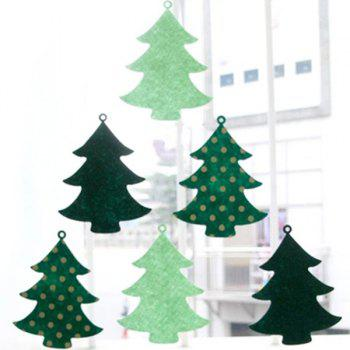 Christmas Tree Banner Bunting Garland Supplies Party Decoration - GREEN