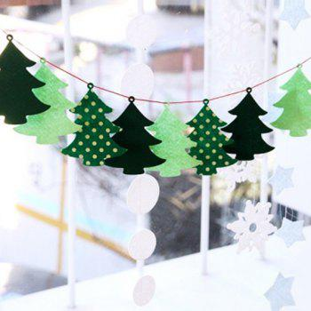 Christmas Tree Banner Bunting Garland Supplies Party Decoration - GREEN GREEN