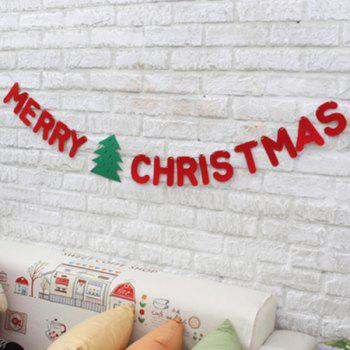 Merry Christmas Letter Banner Garland School Party Decoration