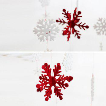 Snowflake Garland Christmas Supplies Party Decoration - RED/WHITE
