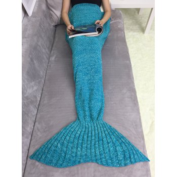Super Soft Acrylic Knitting Mermaid Tail Sofa Blanket
