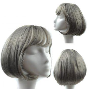 Neat Bang Straight Short Bob Synthetic Wig