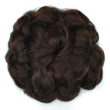 Curly Bun High Temperature Fiber Chignons - RED MIXED BLACK RED MIXED BLACK