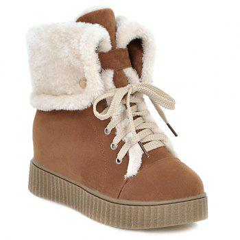 Hidden Wedge Platform Short Boots