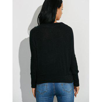 Ribbed Button Embellished Knitwear - S S