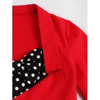 Polka Dot Plus Size Sweetheart Dress - RED 3XL