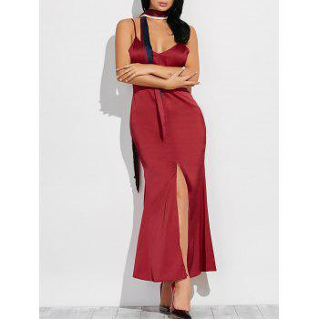 High Slit Maxi Cami Dress