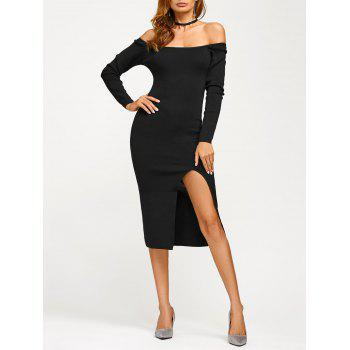 Off Shoulder Long Sleeve Pencil Dress