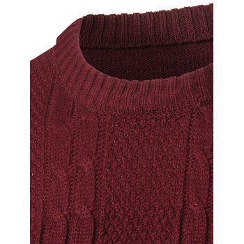 Manches longues Color Block Twist Pull à rayures - Rouge vineux M