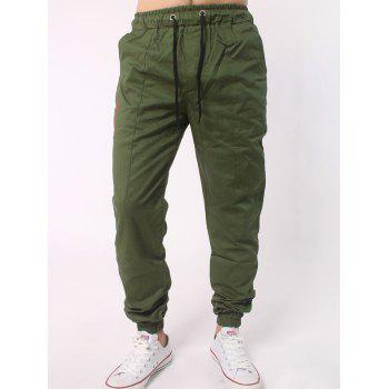 Drawstring Waist Spliced Beam Feet Jogger Pants