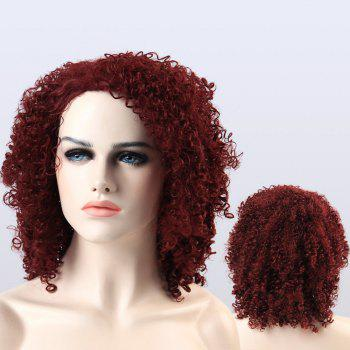 Adiors Afro Curly Shaggy Medium Synthetic Wig