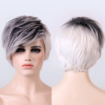 Buy Adiors Ombre Color Short Straight Fluffy Synthetic Wig COLORMIX