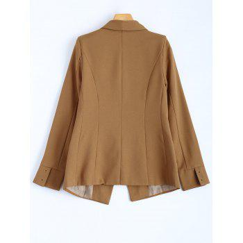 Front Pocket Slim  Fitted Blazer - CAMEL L