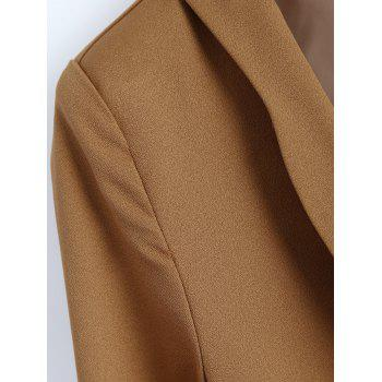 Front Pocket Slim  Fitted Blazer - CAMEL CAMEL