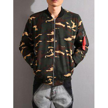 Camouflage Stand Collar Thicken Zip-Up Jacket