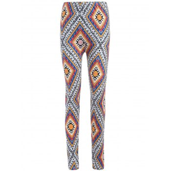 Geometric Print Curvy Leggings