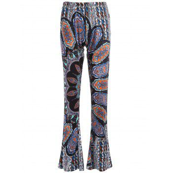 Flare Bell Bottom Printed Trousers