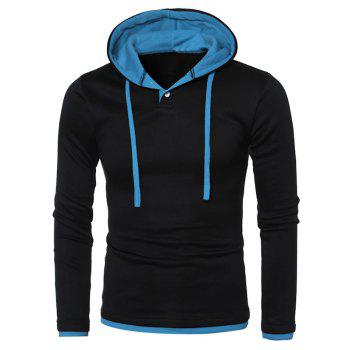 Color Splicing Hooded Long Sleeve Hoodie