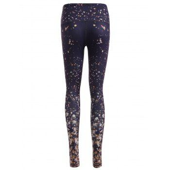 Galaxy Print Skinny Yoga Pants - M M