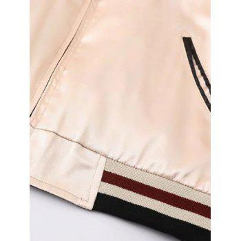 Double Side Embriodered Jacket - APRICOT L
