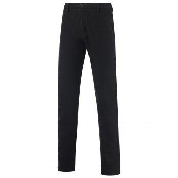 Zipper Fly Mid-Rise Hip Pocket Texture Pants