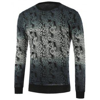 Abstract Pattern Ombre Crew Neck Knitwear