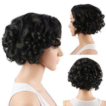 Faddish Short Side Parting Curly Synthetic Wig
