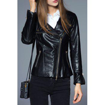PU Leather Biker Slim Jacket