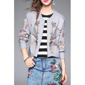 Knit Embroidered Jacket