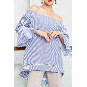 Off The Shoulder Striped Tunic Top