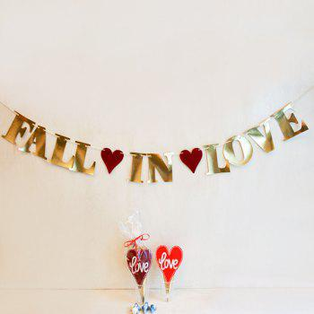 Fall In Love Banner Bunting For Festival Wedding Party Supplies - GOLDEN GOLDEN