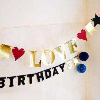 Love Birthday Banner Bunting For Festival Party Supplies - COLORMIX