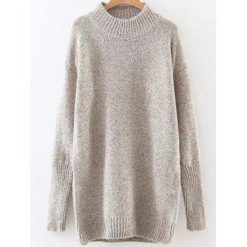 High Neck Long Loose Sweater