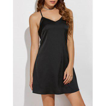 V Neck Cami Mini Dress