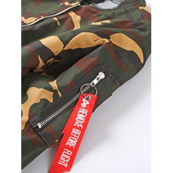 Camouflage Stand Collar Thicken Zip-Up Jacket - ARMY GREEN L