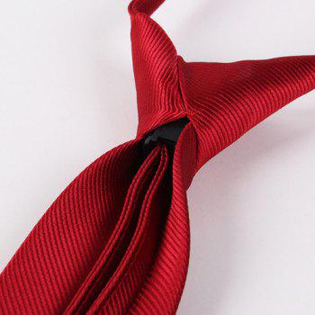 Twill Pattern Pure Color High Grade 6.5cm Widt Tie - DEEP RED
