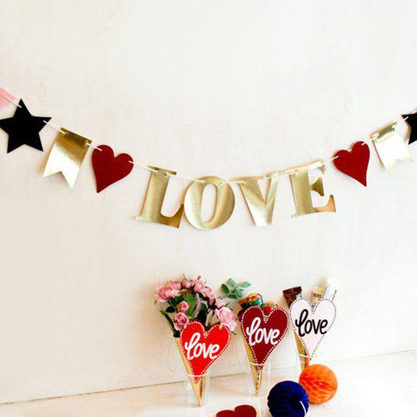 Love Birthday Banner Bunting For Festival Party SuppliesHome<br><br><br>Color: COLORMIX