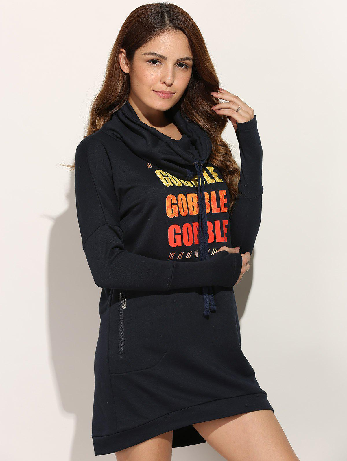 Casual Long Sleeve Letter Print Sweatshirt Dress letter print long sleeve sweatshirt dress page 6