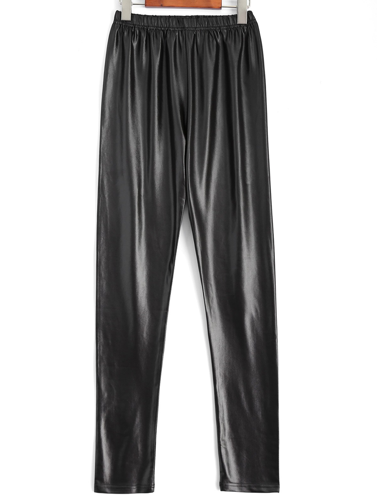 Plus Size Faux Leather Pencil Pants - BLACK XL