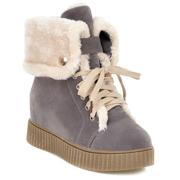 Hidden Wedge Platform Short Boots цена