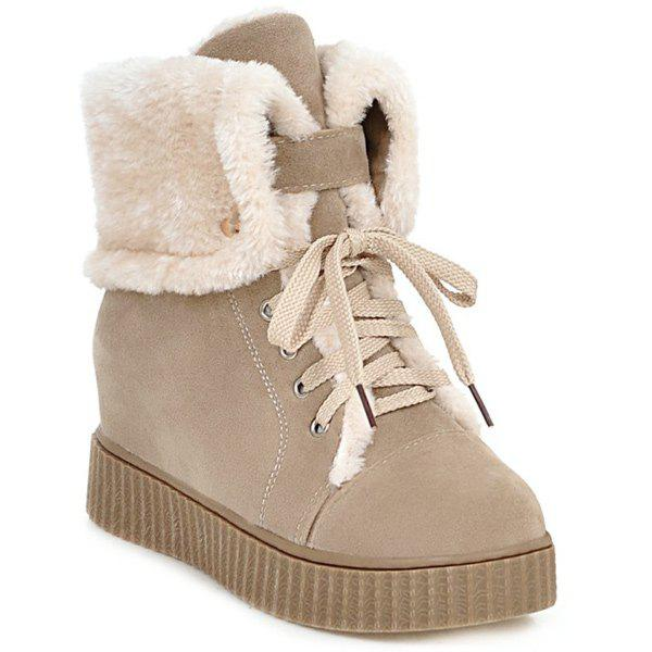 Hidden Wedge Platform Short Boots бра markslojd 198640 661012