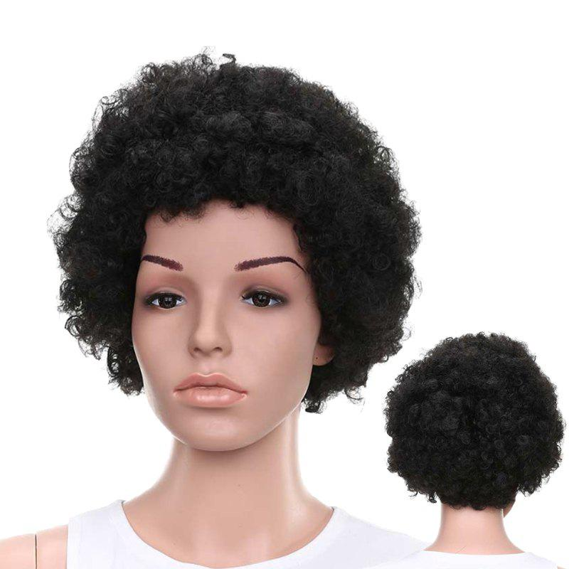 Short Full Bang Afro Curly Fluffy Synthetic Wig