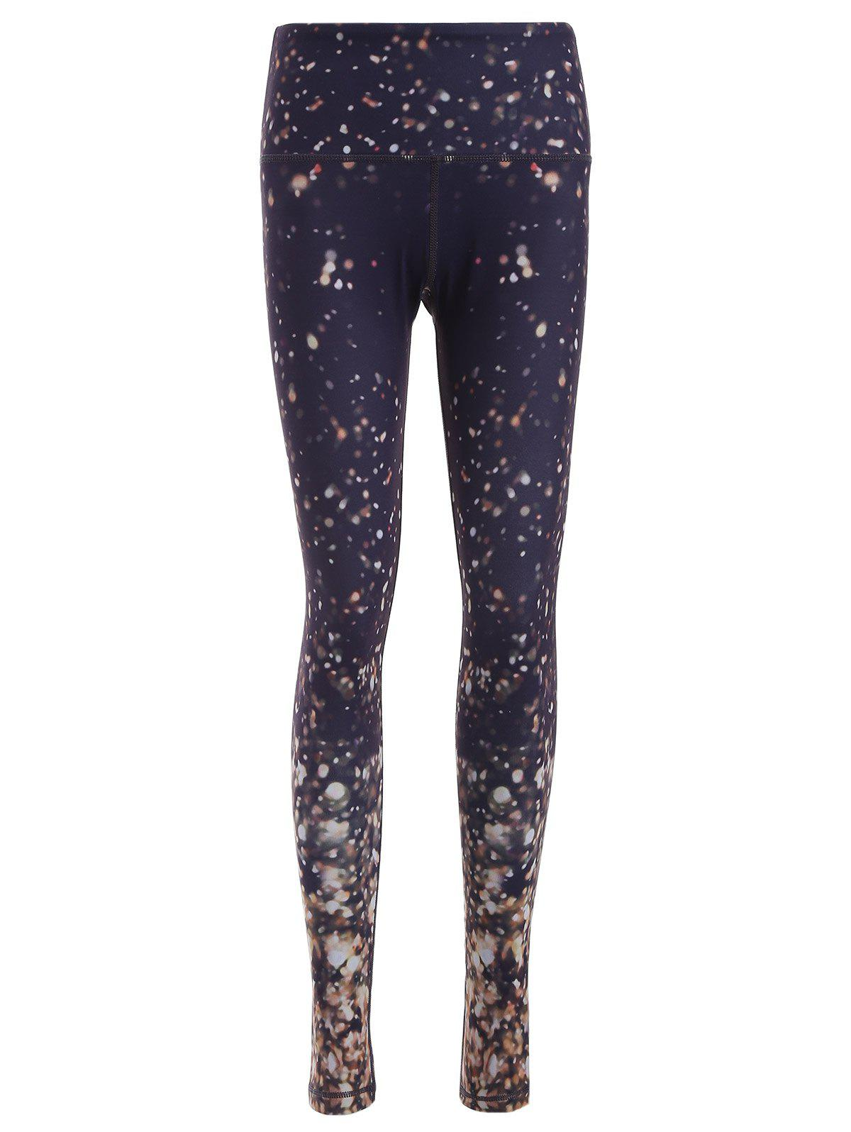 Galaxy Print Skinny Yoga Pants - COLORMIX M