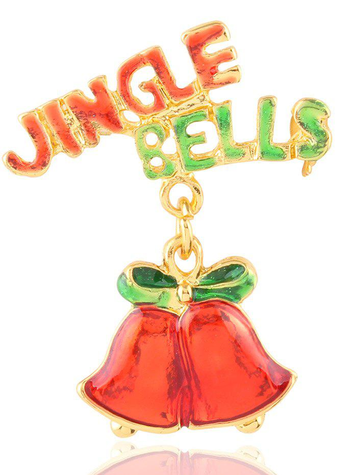 Christmas Jingle Bells Letters Brooch