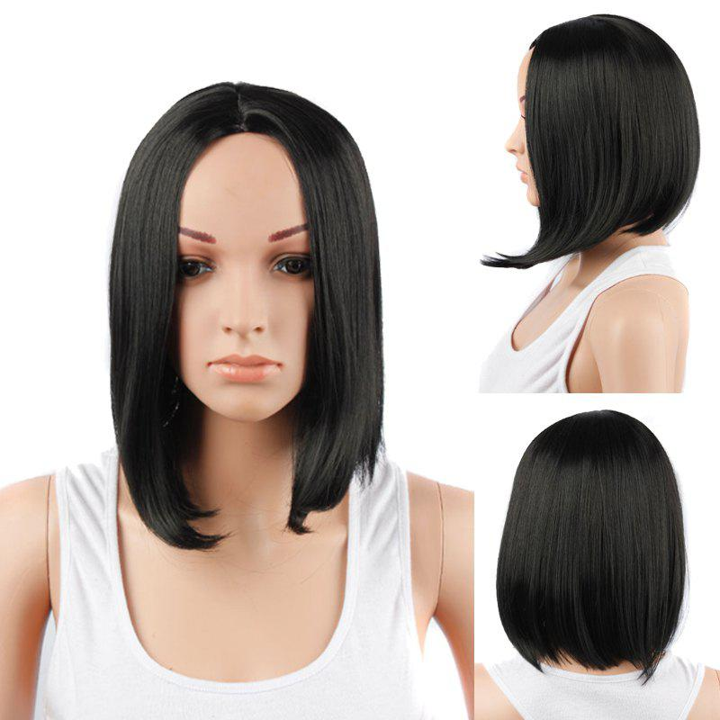 Medium Centre Parting Straight Synthetic WigHair<br><br><br>Color: BLACK