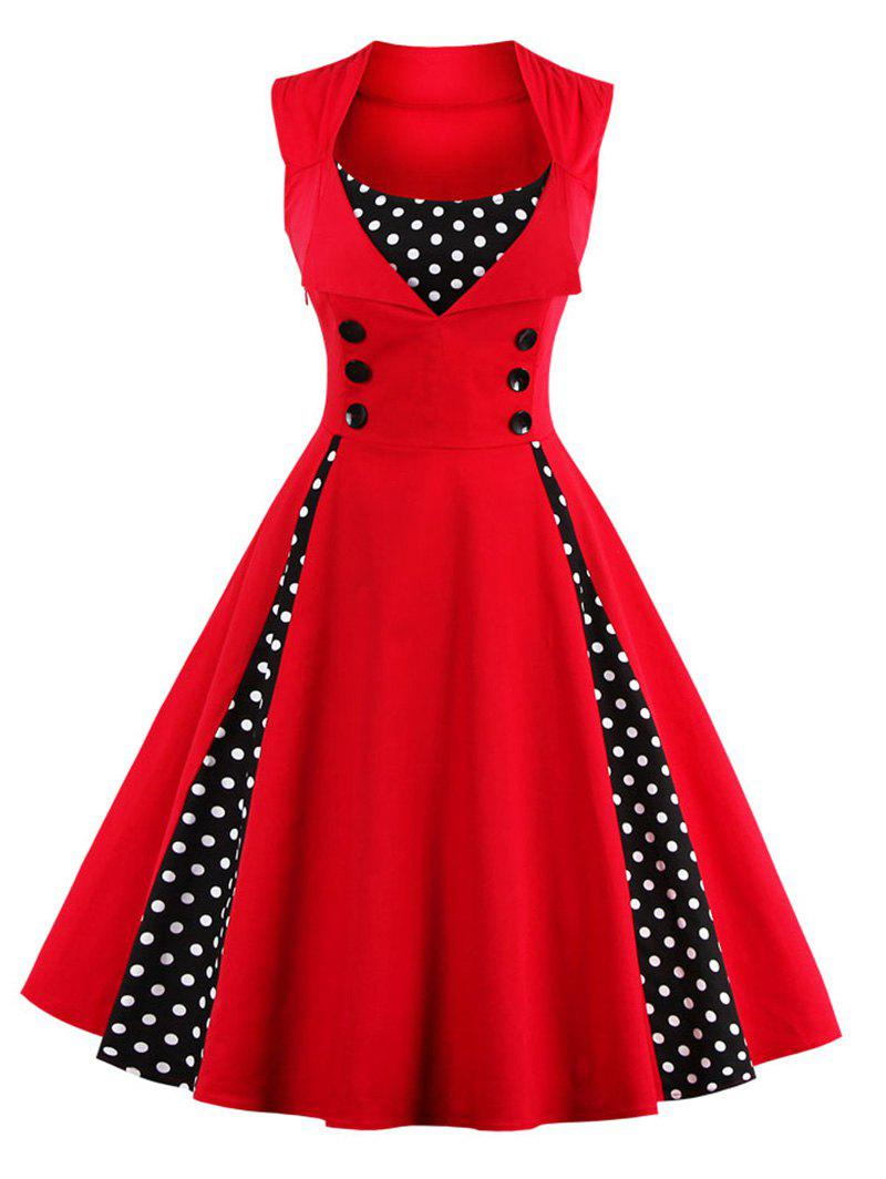 Midi Polka Dot Prom Dress