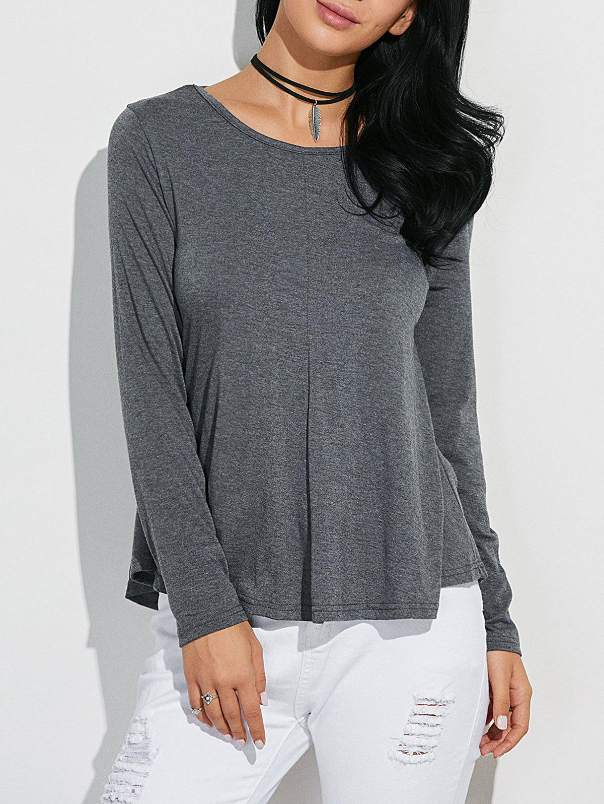 Classic Loose-Fitting T-Shirt - GRAY M