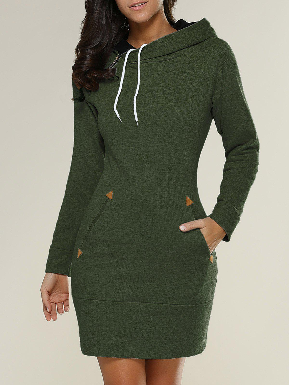 Tight Short Long Sleeve Long Hoodie Mini Dress брюки accelerate tight